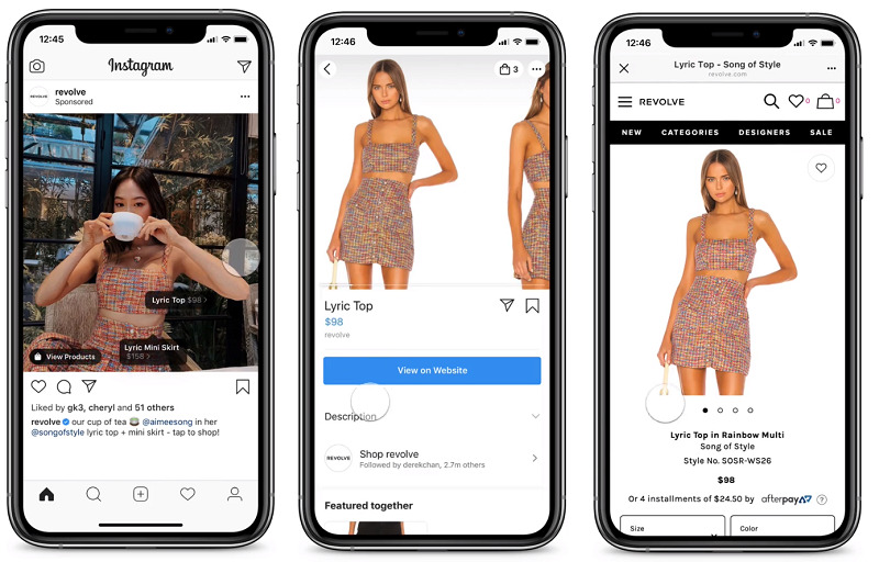 Omdan organiske shoppingopslag på Instagram til annoncer via annonceadministratoren.